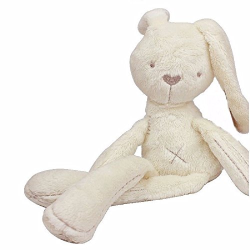 Soft Snuggle Bunny Plush - Childs first bubby doll - Natural Cotton & Natural Color