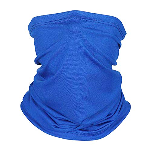 Cycling Scarf UV Dust Protection Face Cover Thin Elastic Neck Gaiter (Royal Blue)