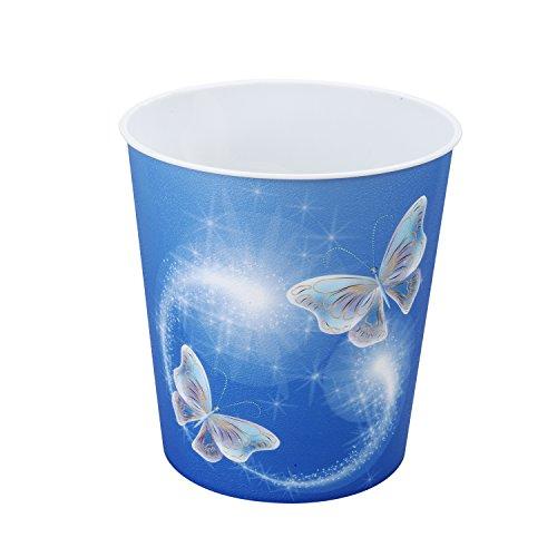 Idena 10485 - Papelera de polipropileno, diseño de mariposas, 9 litros, 1 unidad