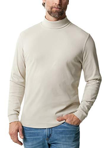 Walbusch Herren Rollkragen Shirt einfarbig Beige 56