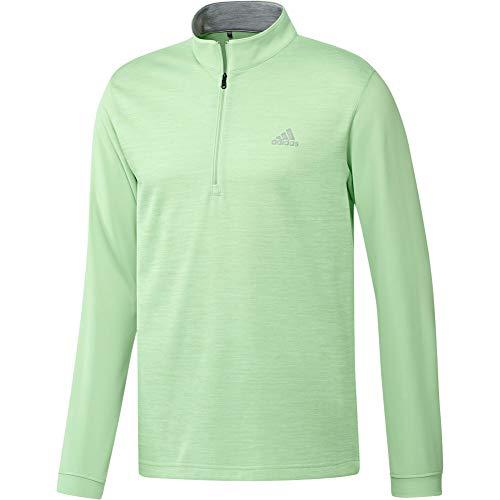 adidas Core 1/4 Zip Layering Top Cuarto de Cremallera, Verde Brillante, Small para Hombre