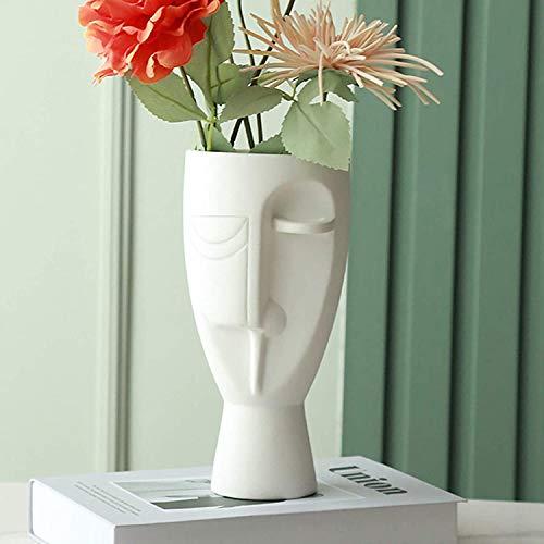 Hey_you Keramische Gesichtskunst Vase, Geschnitzte Körper dekorative Vase Blumenbehälter für Home Office Dekor Wohnzimmer Tisch, Geschenk für Hochzeit Einweihungsparty Dekoration
