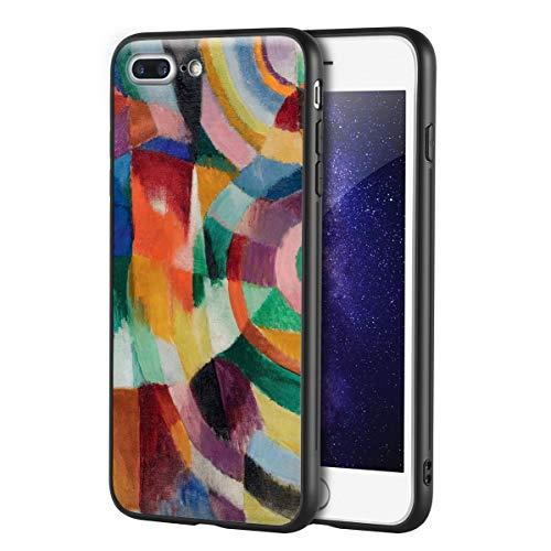 Berkin Arts Sonia Delaunay para iPhone 7 Plus&iPhone 8 Plus/Caja del teléfono Celular de Arte/Impresión Giclee UV en la Cubierta del móvil(Prismi elettrici 2)