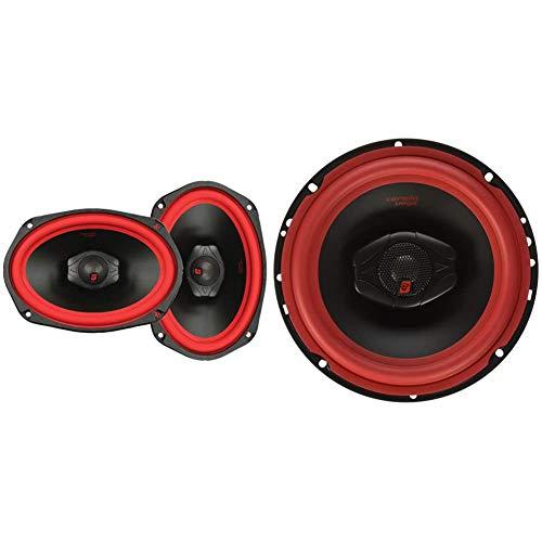CERWIN VEGA V469 6-Inch x 9-Inch 500 Watts Max/100Watts RMS Power Handling 2-Way Coaxial Speaker Set, Black & V465 Vega 6.5IN 2WAY Coax SPKR-Set of 2, Black, 15.00in. x 8.10in. x 4.30in.