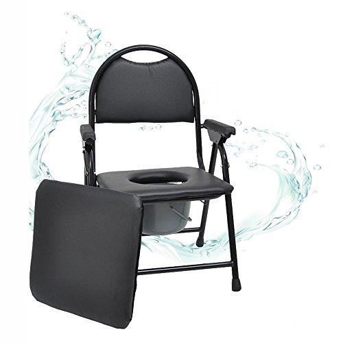 Luxus Toilettensitz zusammenklappbar schwangere Frauen es kann Toilette Senioren Kommode Stuhl Extrakt ziehen Dual Use Eimer schwarz bewegen