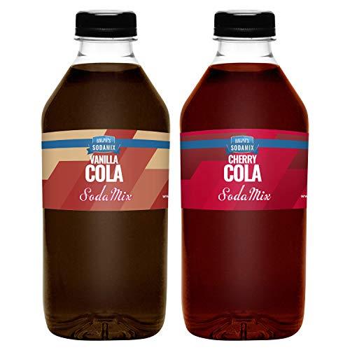 Ralph's 32oz (Quart) TWO Pack Sparkling Water Soda Maker Flavor Syrup | Cherry Cola | Vanilla Cola | Sodamix