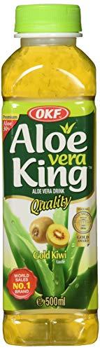 OKF Aloe Vera Getränk Kiwi / 20er Pack von 500 ML / natürlicher und reiches Geschmack / Hohe Qualität Getränk aus Südkorea