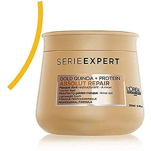 L'Oréal Professionnel Paris - Serie Expert Absolut Repair Maschera professionale per capelli danneggiati e sensibilizzati, riparazione e morbidezza istantanee, con gold quinoa e proteine, 250ml