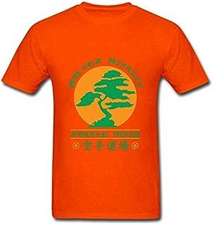 La Maxpa Bonsai Tree Karate Dojo Comfortable Men's Tee Shirts Spring Autumn Men T-Shirt Homme S-3xl T Shirt Men Tops:Orange, XS