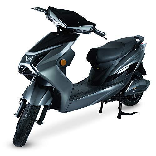 Elektroroller Thor I E-Roller 45kmh I Elektro-Roller mit 2800W I E-Scooter mit Straßenzulassung I Elektroroller mit 65-75 km Reichweite I Schwarz
