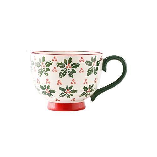 ZWMG Taza de Desayuno Pintada a Mano Taza de Gran Capacidad 17.6 Oz La Taza de Agua se Puede Usar para Tomar Leche y Jugo de café, Adecuado para la Escuela de Oficina y el hogar (Color : A)