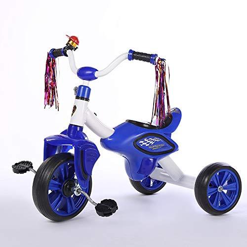 MAGO Kinder Licht Schritt mit Licht, Pedale Dreirad, mit Pull-Blumen-Glocke Kindern Fahrrad Spielzeug (Color : Green)