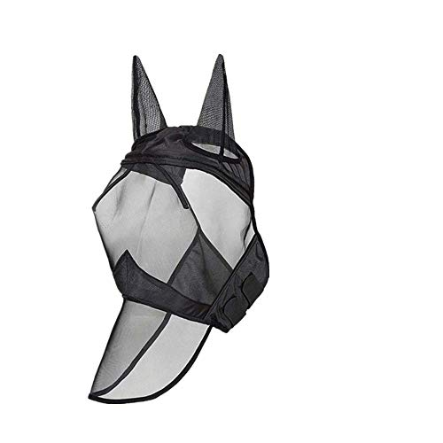 PP Fly mask, Horse Fly mask with Ear Muffs and Nose mask,Breathable and Comfortable