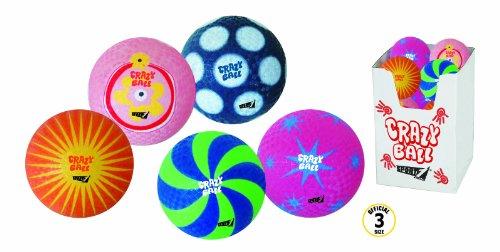 Palla in gomma termosaldata crazy ball in 5 colori