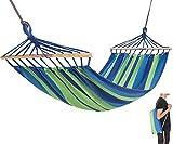 KingCamp Compacto Hamaca Protable para Acampar con Barra de Madera Plegable Paquete Samll (Azul)