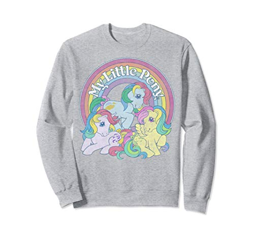Officially Licensed My Little Pony 80s Rainbow Logo Sweatshirt