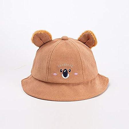 Sombrero para niños Modelos de otoño e Invierno de algodón Puro, Grueso y cálido, Sombrero de Pescador para bebés, versión Coreana de Koala, Gorro de Felpa para bebés