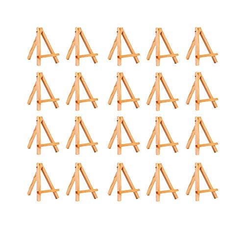20 Pezzi Cavalletto Mini Di Legno Per Display,Cornice Per Foto Mini Cavalletto Piccola Cornice Di Legno Adatta Per La Decorazione Della Tavola Di Compleanno Battesimo Di Nozze