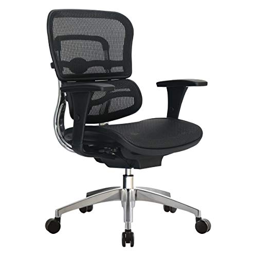 WorkPro 12000 Mesh Series Ergonomic Mid-Back Manager's Chair, Black/Chrome