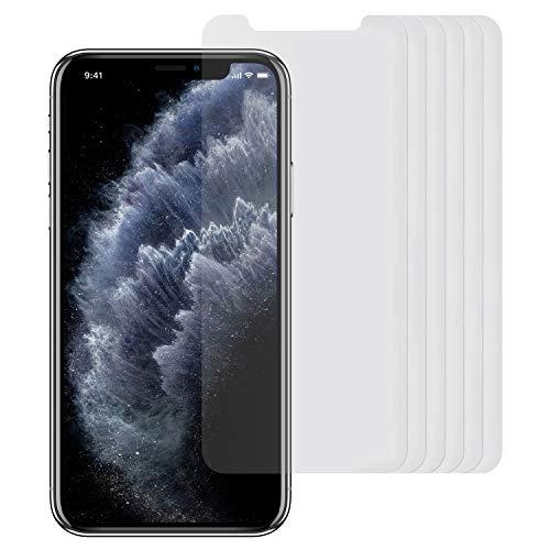 Arktis Folie kompatibel mit iPhone 11 Pro und iPhone XS/X [6 Stück] kristallklare Premium Display Schutzfolie Displayfolie, hüllenfreundlich, Face-ID kompatibel, einfache und blasenfreie Aufbringung
