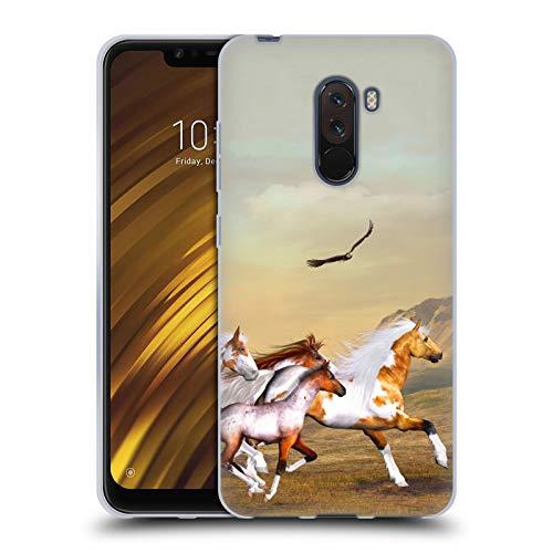 Offizielle Simone Gatterwe Wilde Herden Pferde Soft Gel Huelle kompatibel mit Xiaomi Pocophone F1 / Poco F1