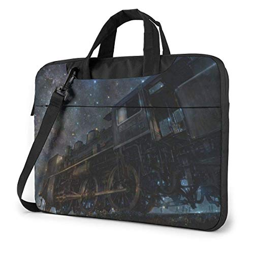 XCNGG Computertasche Umhängetasche Laptop Bag Carrying Laptop Case, Helicopter Erupting Volcano Computer Sleeve Cover with Handle, Business Briefcase Protective Bag for Ultrabook, MacBook, Sony, Noteb