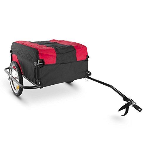 Oneconcept DURAMAXX Mountee - Remolque para Bicicletas, Desmontable, Capacidad 130 litros, Carga 60 kg, Bastidor Acero, Neumáticos 16, Palanca 70 cm, Ruedas Acero, Impermeable, Lona Nailon, Rojo