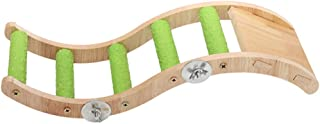 POPETPOP Drewniane Parrot Swing Zabawki Naturalne Drewniane Zabawki Dla Ptaków Papuga Klatka Wiszące Drabiny Zabawki Dla P...