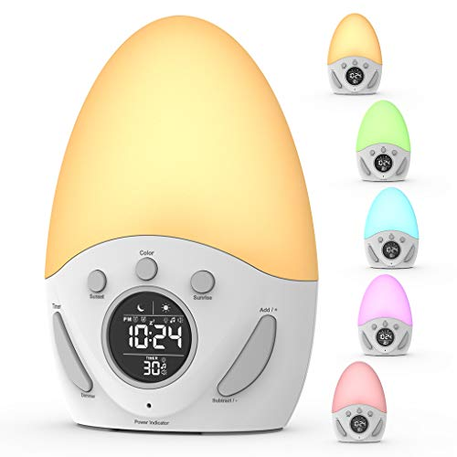 Kids Alarm Clock, Wake-up Light Clock with Sunrise...
