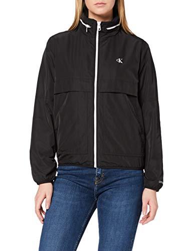 Calvin Klein Jeans Contrast Zip Windbreaker Chaqueta, CK Negro, M para Mujer