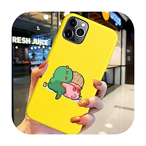 Hot Cartoon lindo café gato Flamingo teléfono caso para iPhone 6 6S 7 8 X XS XR 11 12 Pro Max SE 2020 cubierta silicona suave Tpu Funda-Y9766e-para iPhone SE 2020