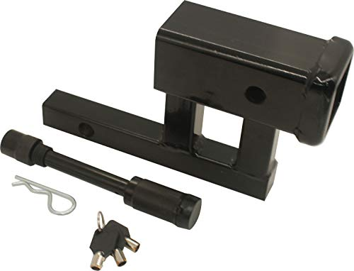 "AC-DK 2"" Hitch Adapter 5-1/8'' Shank Length with 4"" Rise and 3-3/8"" Drop Including 5/8'' Hitch Lock Pin with 3 Keys for Class II Receivers Only"