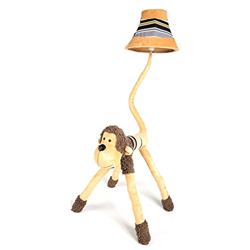 Wvfguj Wandlamp voor binnen Creative Cartoon Leuke Kinderen Room Floor Lamp Woonkamer Slaapkamer bedlampje Monkey Verticale Lamp