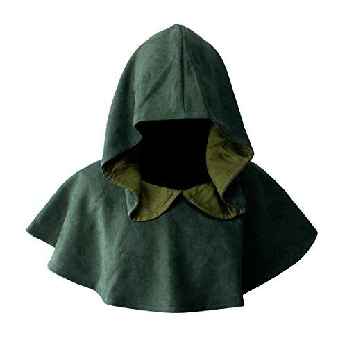 DAZCOS Multicolor Medieval Cowl Hat Durable Faux Suede Cosplay...