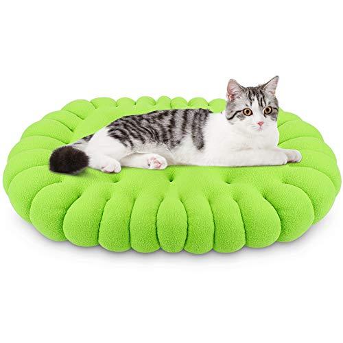 G.C Hundekissen Hundematratze für kleine Hunde und Katzen, orthopädisches Hundebett kuschelig Schlafplatz, Waschbar Katzenbett Matte, Größe: 60x44cm (Grün)