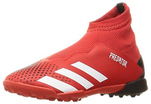 adidas Unisex Predator 20.3 Ll Tf J Kinder Fußballschuhe, Gris Active Red FTWR White Core Black, 36 EU