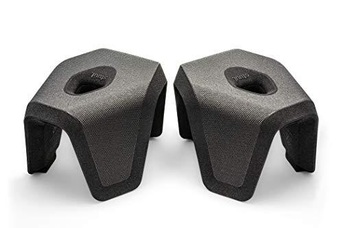 STUUL® - der Innovative Zweiteilige Toilettenhocker für schöne Bäder und einen gesunden Darm. Das Original. (Charcoal)
