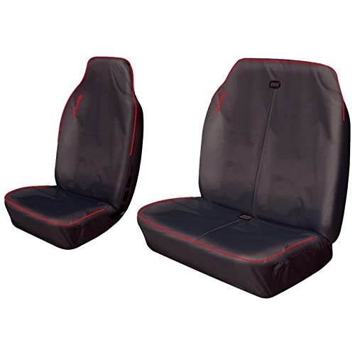 INCLUDES EMBROIDERY BLACK UK Custom Covers SC102B-EM Tailored Heavy Duty Waterproof Front Seat Covers