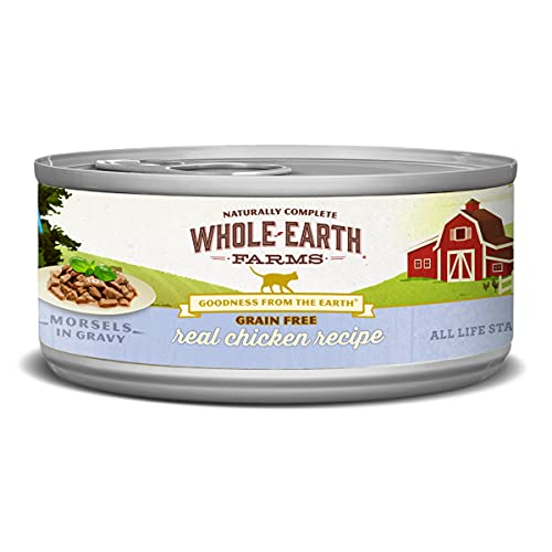 Whole Earth Farms Grain Free Wet Cat Food Real Chicken (Cast of 24)