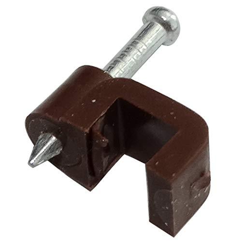 Aerzetix kabelbinder, plat, bruin, 5 mm x 4 mm, bevestiging met spijkers C41804