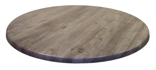 "ATC Werzalit Wood-Look All-Weather Table Top, 42"" D, Ponderosa Grey"
