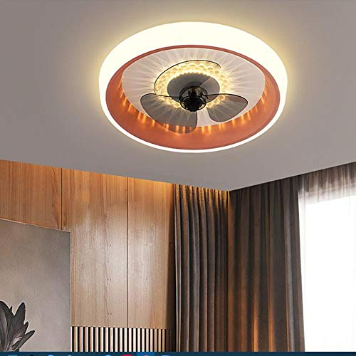 Ventilador de techo LED con control remoto, ventilador moderno, luz de techo con iluminación, elegante, regulable, silencioso, regulable, ventilador, lámpara de ventilador para dormitorio