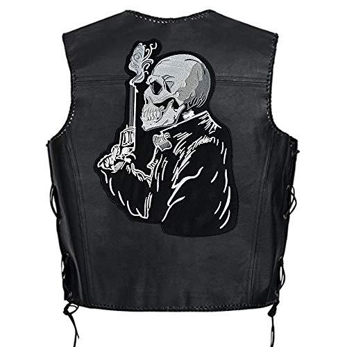 Gun Man Large Biker Motorcycle Back Patches for Jacket