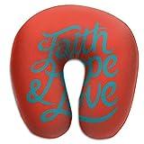 Almohada en Forma de U, Cuello, fe, Esperanza, Amor, Viaje, Almohada Multifuncional, Coche, avión