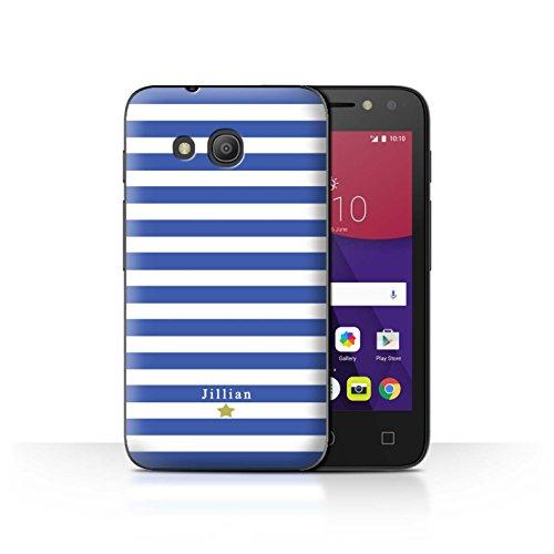 Stuff4Phone Case/Cover/Skin/alcpix44/Custom Stripes/Striped Collection Étoile Rayure Bleu