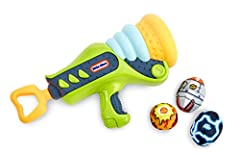 Easy to load and launch with front-loading and simple pull back mechanism ideal for younger kids 12-Foot blasting range Includes: boom blaster, three colorful power pods, & Cut out Monster target Power pods are Super soft and safe Get imaginative wit...
