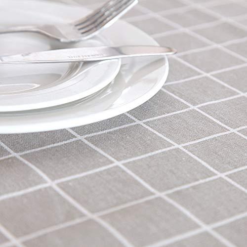 CYYyang Tela de Tabla Antideslizante del algodón del Poliester Cubierta Simple de la Tabla de la Manera Mantel de algodón y Lino Simple geometría de celosía Pastoral