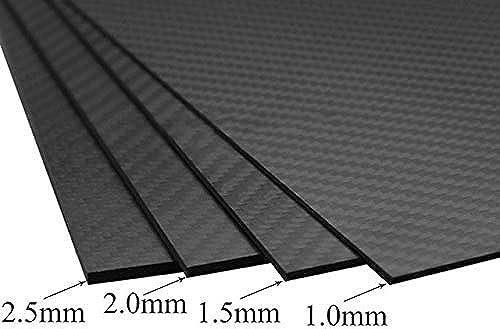 fürOnly 1 Blatt Matte Oberfl e 3K 100% Karbonfaser Platte, 2 mm dick 300x500x2mm