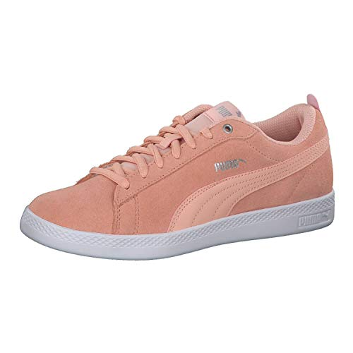 Puma Damen Smash WNS v2 SD Sneaker, Pink (Peach Bud-Silver-Puma White 14), 38.5 EU