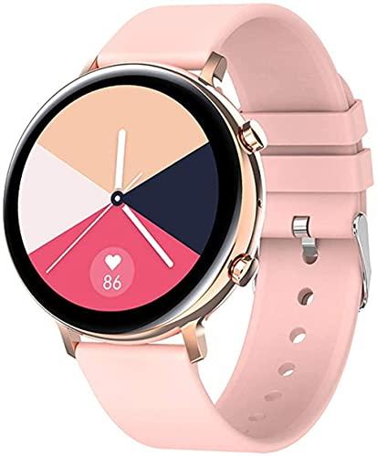 Reloj inteligente con función de llamada bluetooth para hombres y mujeres con detección de sueño multideporte modo reloj inteligente fitness tracker-rosa con 3 correas